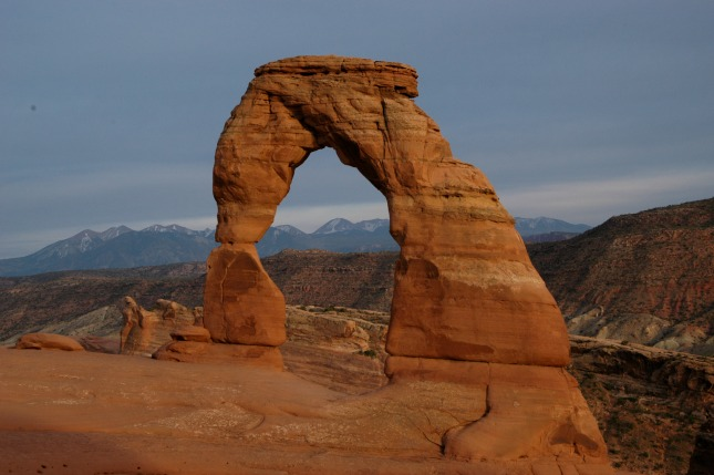 Delicate Arch in shade