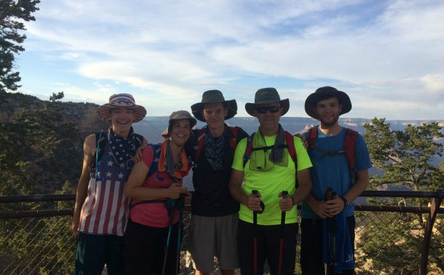 Family pic at the top of the Grand Canyon