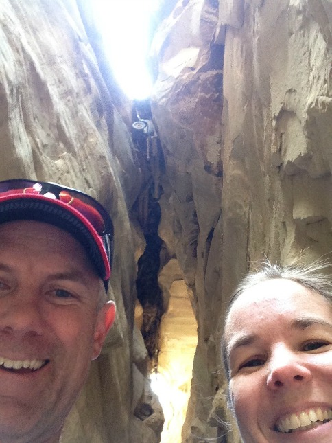 Mike and Randi in Bull Valley Gorge