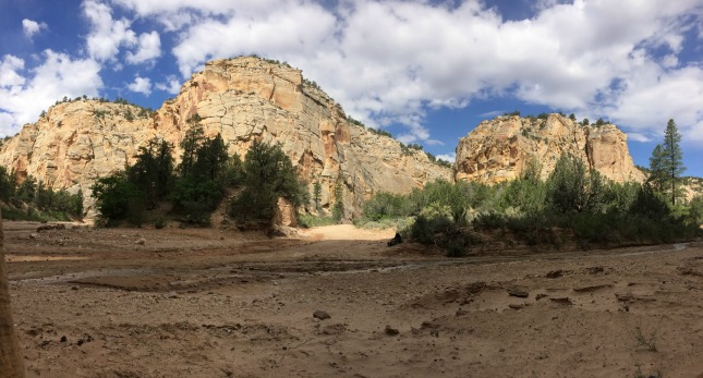 Panorama of Bull Valley Gorge